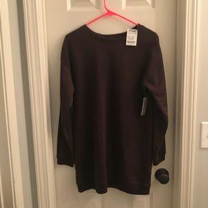 Long maroon sweatshirt